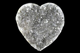 "Buy 1"" Quartz Crystal Cluster Heart - Uruguay - #128704"