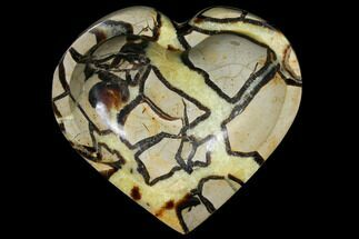 "6"" Polished, Heart-Shaped Septarian Dish - Madagascar For Sale, #126791"