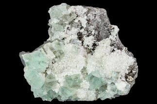 "3"" Cubic, Light-Green Fluorite Crystals on Quartz - China For Sale, #128786"