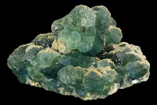"Buy 3.3"" Blue-Green Fluorite Crystals with Quartz - China - #128803"