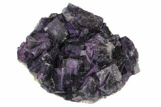 "Buy 4.6"" Purple Cubic Fluorite Crystal Cluster - China - #128806"