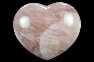 "4.35"" Polished Rose Quartz Heart - Madagascar For Sale, #129029"