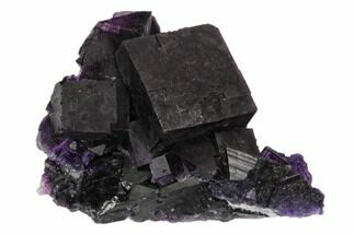 "1.9"" Dark Purple Cubic Fluorite Crystal Cluster - China For Sale, #128927"