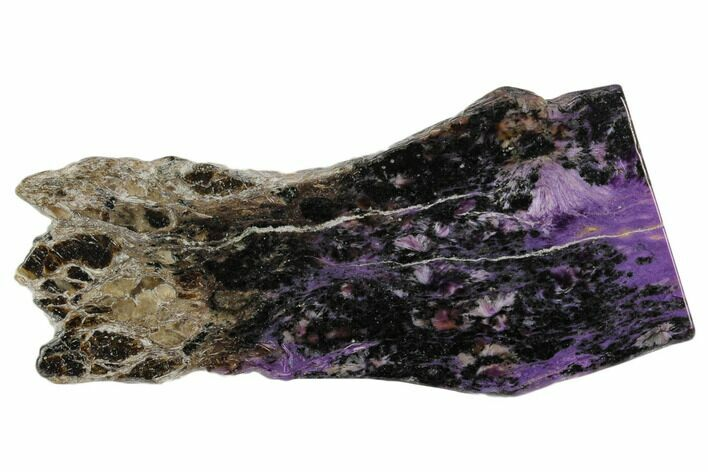"4.2"" Purple Polished Charoite Slab - Siberia"