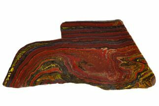 "6.3"" Polished Tiger Iron Stromatolite - 3.02 Billion Years For Sale, #129212"