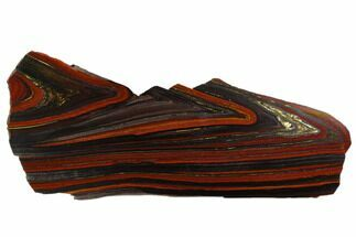 "8.7"" Polished Tiger Iron Stromatolite - 3.02 Billion Years For Sale, #129266"