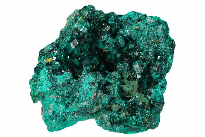 "2.5"" Gemmy Dioptase Crystal Cluster - Congo"