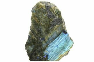 "5.7"" Tall, Single Side Polished Labradorite - Madagascar For Sale, #126452"