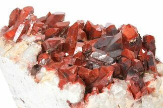 "Phenomenal, 9.9"" Natural Red Quartz Crystal Cluster - Morocco For Sale, #131360"