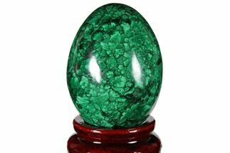 "2.15"" Flowery, Polished Malachite Egg - Congo For Sale, #131864"