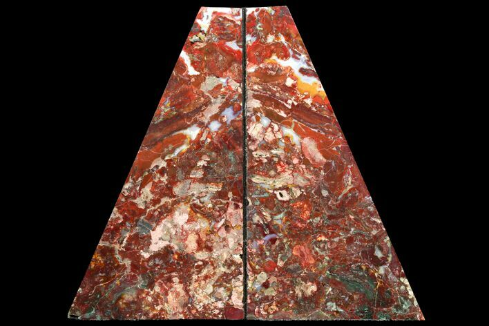 "9.2"" Red/Green Jasper Replaced Petrified Wood Bookends - Oregon"