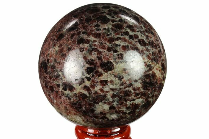 "2.5"" Polished Garnetite Sphere - Madagascar"