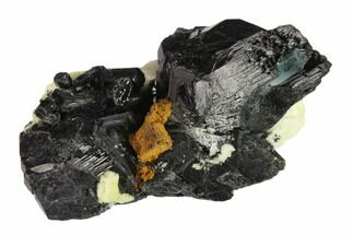 "Buy 2.4"" Black Tourmaline (Schorl), Aquamarine and Goethite - Namibia - #132217"