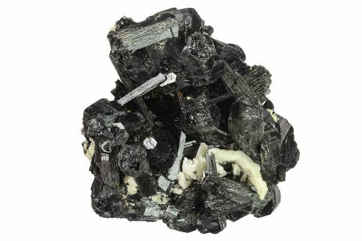 "2.9"" Black Tourmaline (Schorl) Crystals with Orthoclase - Namibia"