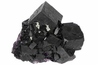 "Buy 3.1"" Dark Purple Cubic Fluorite Crystal Cluster - China - #132778"
