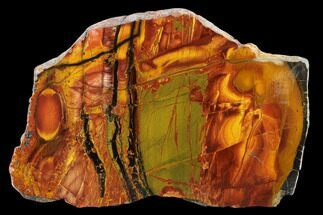 "Buy 7.4"" Marra Mamba Tiger's Eye Slab - Mt. Brockman (2.7 Billion Years) - #133075"