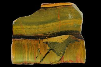 "3.8"" Marra Mamba Tiger's Eye Slab - Mt. Brockman (2.7 Billion Years) For Sale, #133064"