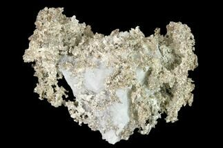 "1.9"" Native Silver Formation in Etched Calcite - Morocco For Sale, #132419"