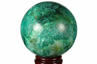 "4.1"" Polished Chrysocolla & Malachite Sphere - Peru For Sale, #133772"