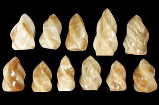 "Wholesale Lot: 3-5"" Polished Calcite ""Flames"" - 11 Pieces For Sale, #133859"