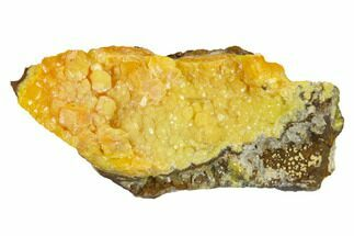"2.4"" Yellow-Orange Vanadinite Aggregation - Mibladen, Morocco For Sale, #133889"