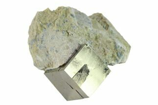 ".5"" Pyrite Cube In Matrix - Navajun, Spain For Sale, #132860"