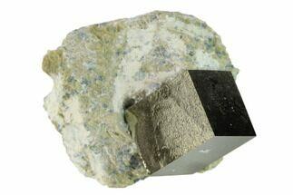 "Buy .61"" Pyrite Cube In Matrix - Navajun, Spain - #132862"