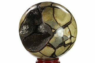 "Buy 6.8"" Polished Septarian Geode Sphere - Madagascar - #134431"