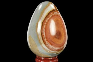 "Buy 2.8"" Polished Polychrome Jasper Egg - Madagascar - #134578"