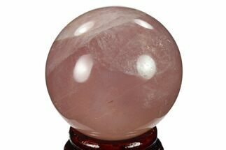 "Buy 2.15"" Polished Rose Quartz Sphere - Madagascar - #133792"