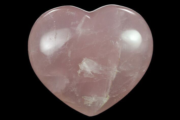 "2.65"" Polished Rose Quartz Heart - Madagascar"