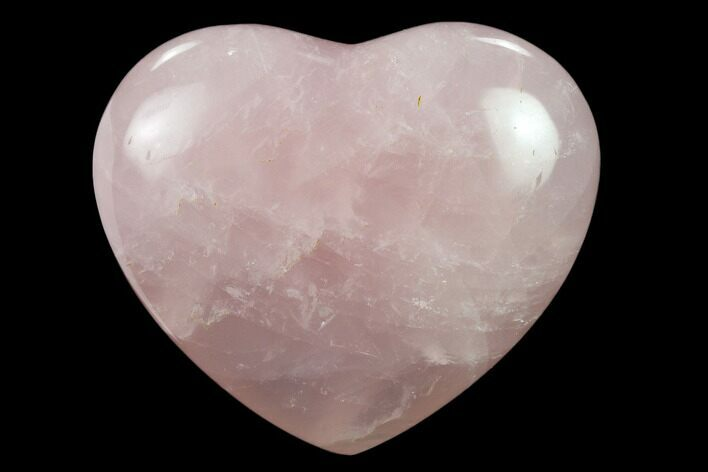 "2.7"" Polished Rose Quartz Heart - Madagascar"