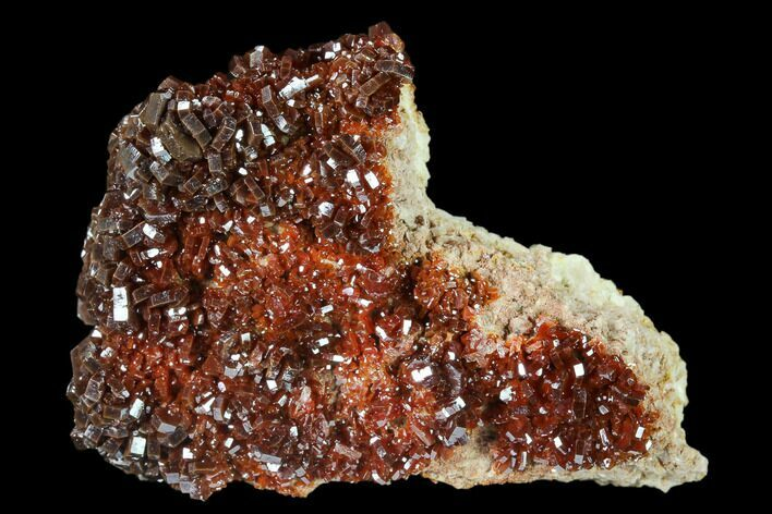 "2.4"" Ruby Red Vanadinite Crystals on Barite - Morocco"