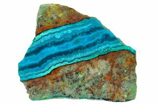"Buy 2.3"" Polished Chrysocolla & Plume Malachite - Bagdad Mine, Arizona - #136111"