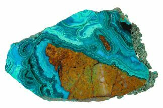 Chrysocolla & Malachite - Fossils For Sale - #136116