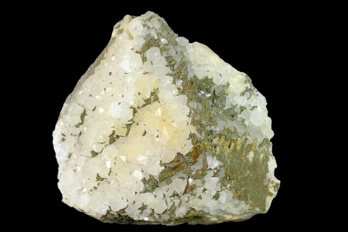 "5.4"" Quartz Crystal Cluster with Chalcopyrite - Morocco"