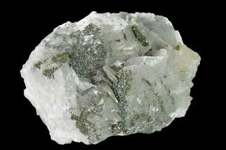 Calcite & Chalcopyrite - Fossils For Sale - #137142