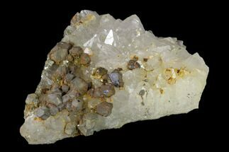 "5.7"" Quartz Crystal Cluster with Galena and Barite - Morocco For Sale, #137147"