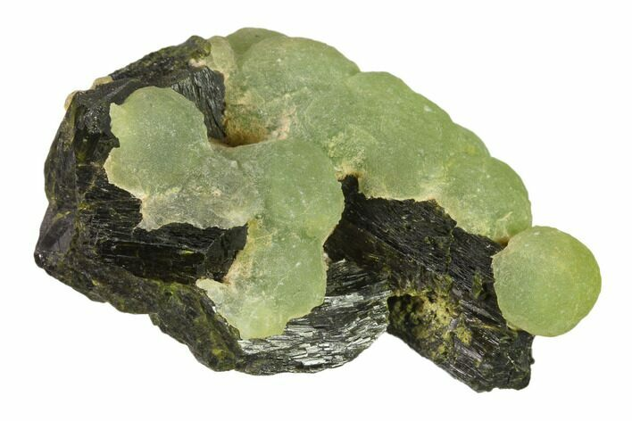 "3.2"" Botryoidal Prehnite With Epidote - Mali, Africa"