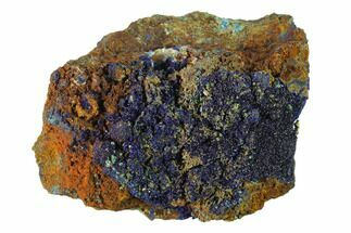 "Buy 4.6"" Druzy Azurite Crystals on Matrix - Morocco - #137431"