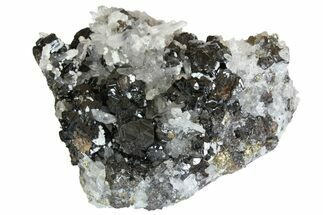 Pyrite, Sphalerite, Dolomite & Quartz - Fossils For Sale - #138162