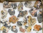 "Lot: 1-2"" Cerussite, Barite, & Galena Clusters - 38 Pieces  - #138206-2"
