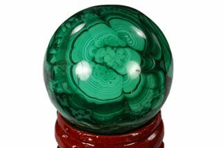 "Buy 1.35"" Polished Malachite Sphere - Congo - #138679"