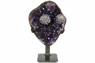 "6.7"" Amethyst Geode Section on Metal Stand - Uruguay For Sale, #139811"