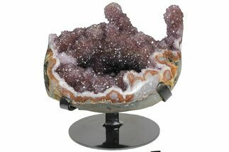 "8"" Amethyst ""Stalactite"" Formation on Metal Stand - Uruguay For Sale, #139832"