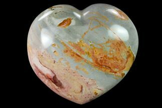 "Buy 4.8"" Wide, Polychrome Jasper Heart - Madagascar - #139969"