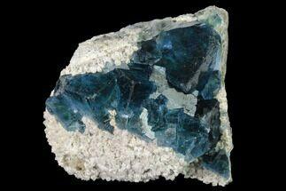 "Buy 2.5"" Cubic, Blue-Green Fluorite Crystals on Quartz - China - #141796"