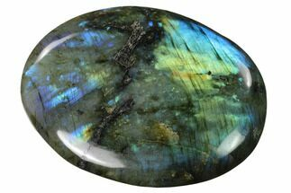 "Buy 3.8"" Flashy, Polished Labradorite Pebble - Madagascar - #140383"
