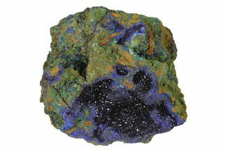 "2.7"" Sparkling Azurite Crystals With Malachite - Laos For Sale, #142367"