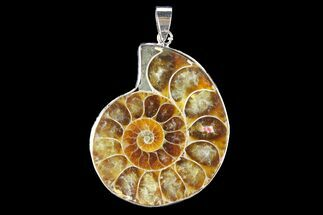 "1.6"" Fossil Ammonite Pendant - 110 Million Years Old For Sale, #142895"